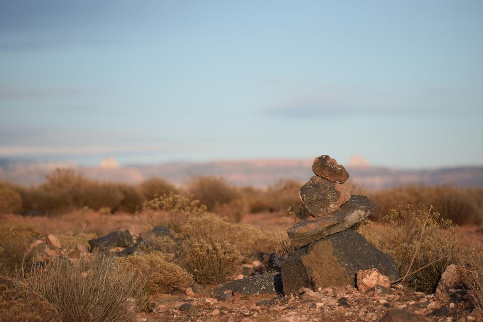 Rock, Marker, Trail, Utah, Stone