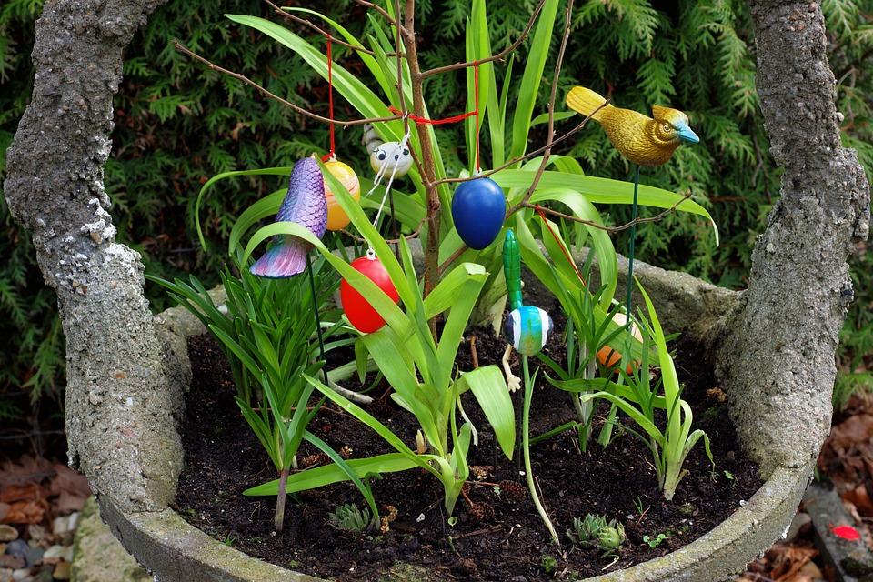 Easter, Decoration, Stone Vessel, Eye Catcher, Spring
