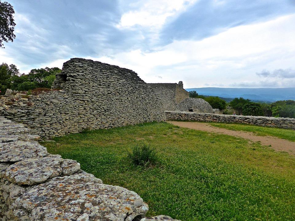 Stone Wall, Building, Masonry, Construction, Aged