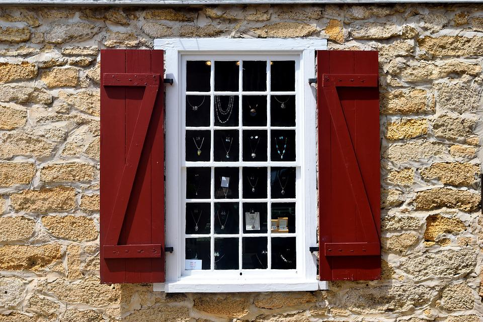 Window, Exterior, Stone Wall, Background, Architecture