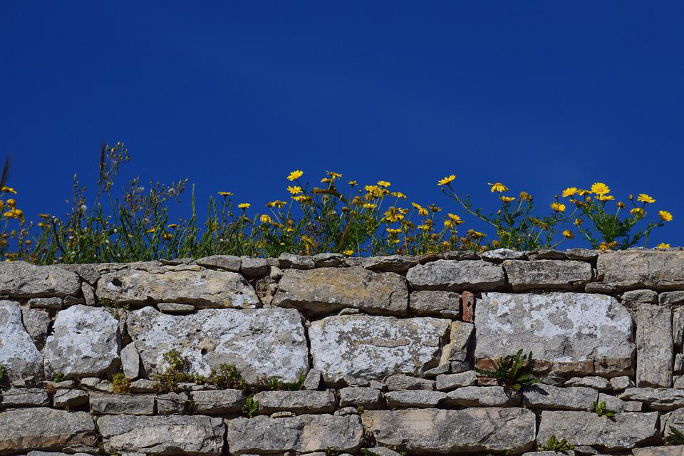 Wall, Sky, Stone, Texture, Bricked, Background