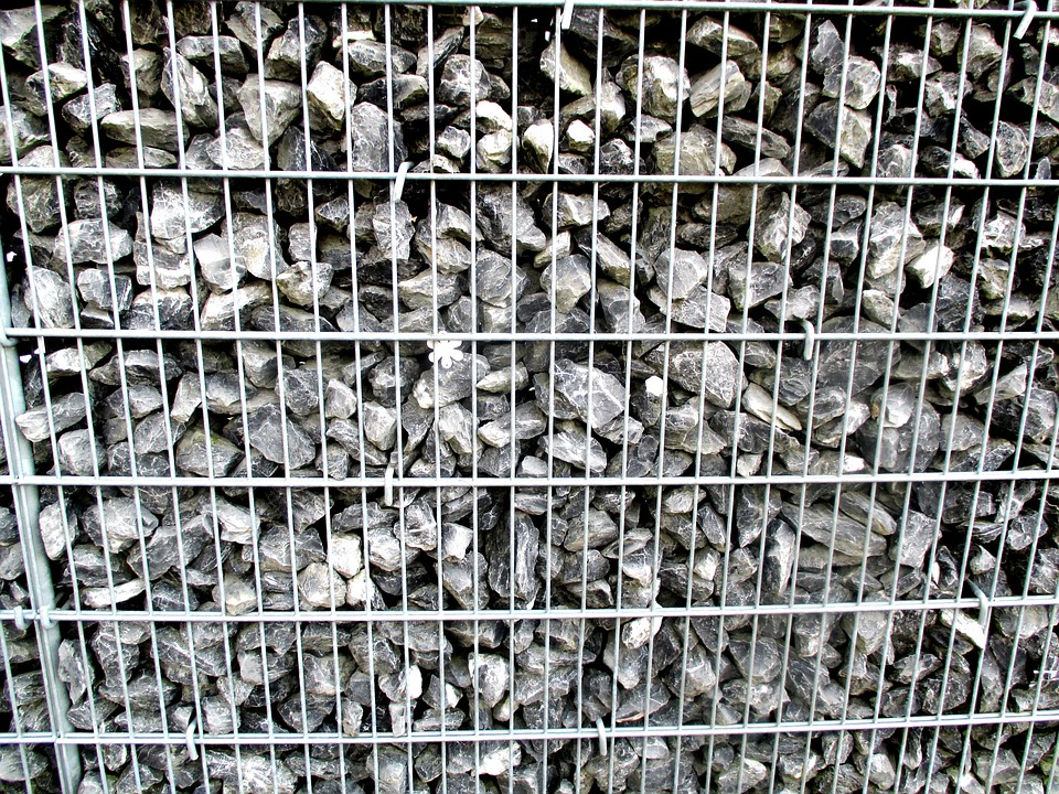 Wall, Stone Wall, Grid, Metal