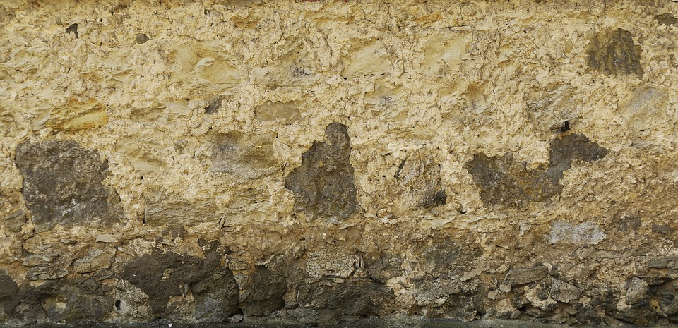 Plaster, Facade, Wall, Holes, Stone, Old, Weathered