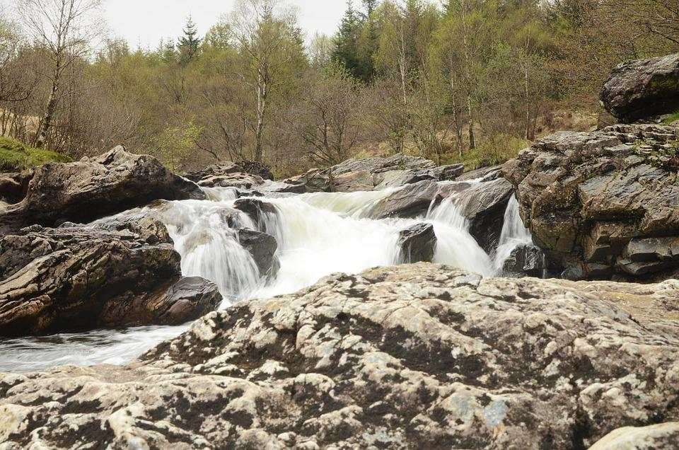 Waterfall, Hills, Spring, Nature, Stone, Flow, Time