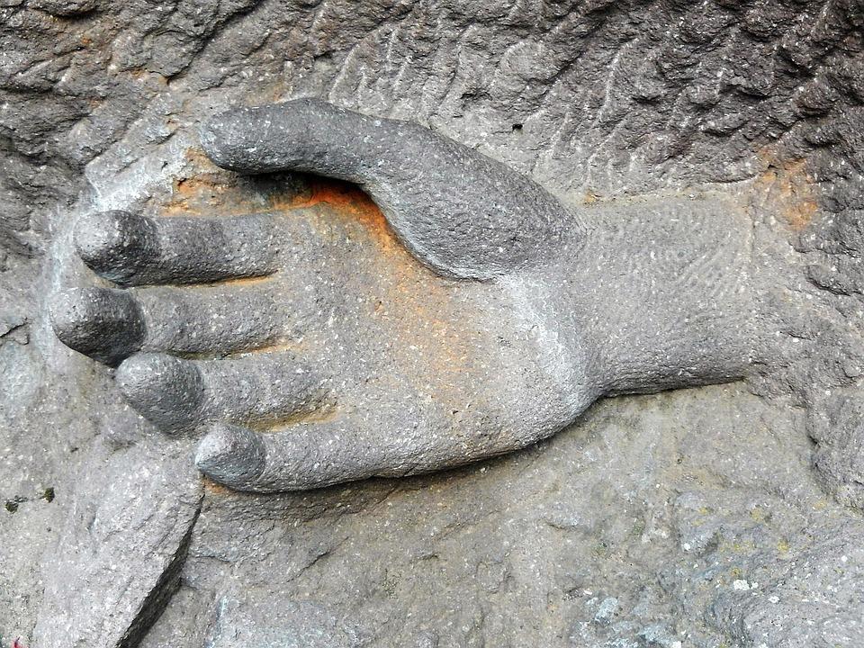Hand, Sculpture, Pierre, Stonecutter