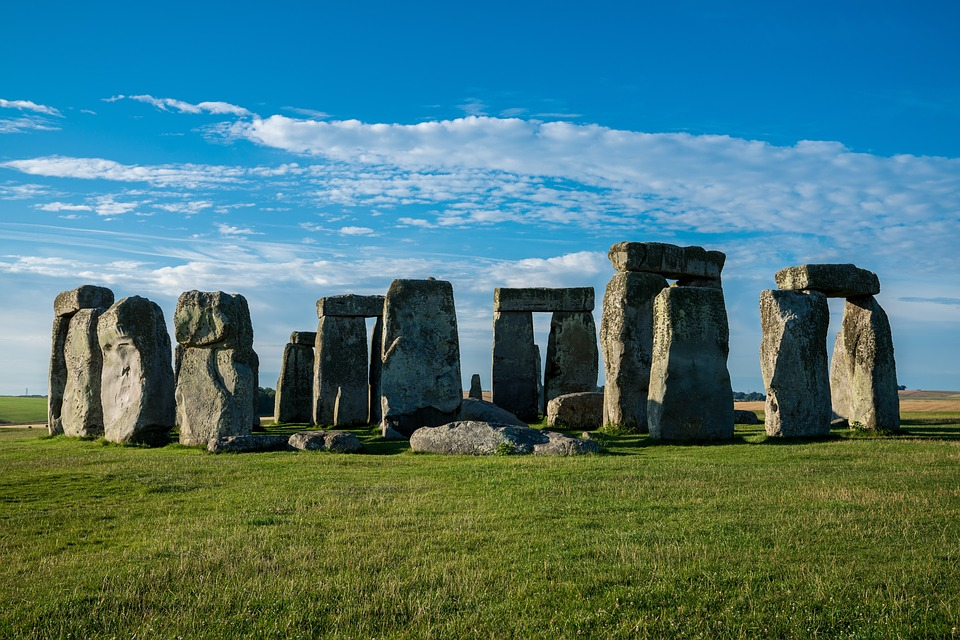 Stonehenge, Megalith, Outdoors, Grass, Sky, Stone