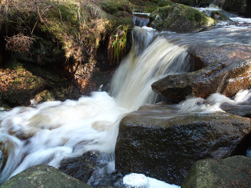 Water, Waterfall, Bach, Stones, Nature, Landscape, Flow