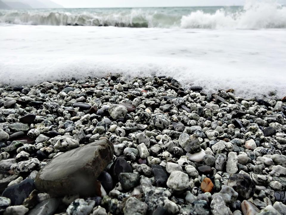 Beach, Sea, Ocean, Water, Coast, Mediterranean, Stones