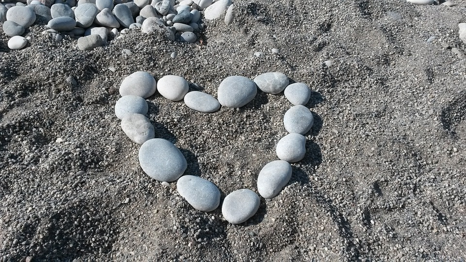 The Heart Of, Boulders, Love, Luck, Stones, Beach