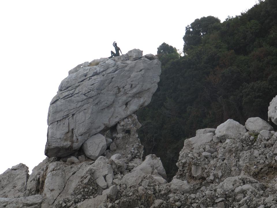 Capri, Boy, Welcome, Stones, Rock