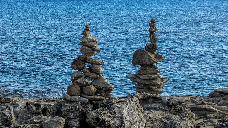 Cyprus, Cavo Greko, National Park, Path Signs, Stones
