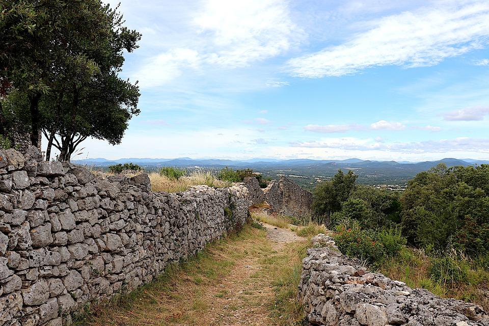 Stones, Walls, Pathway, Trail, Dry-stone Walls, Field