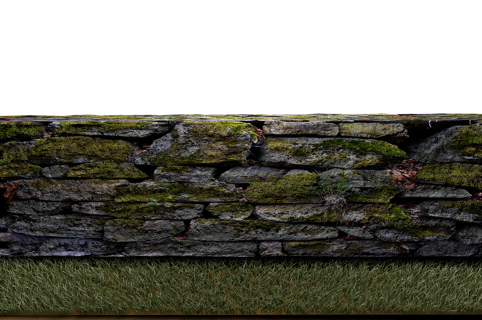 Wall, Stone Wall, Meadow, Stones, Isolated, Png
