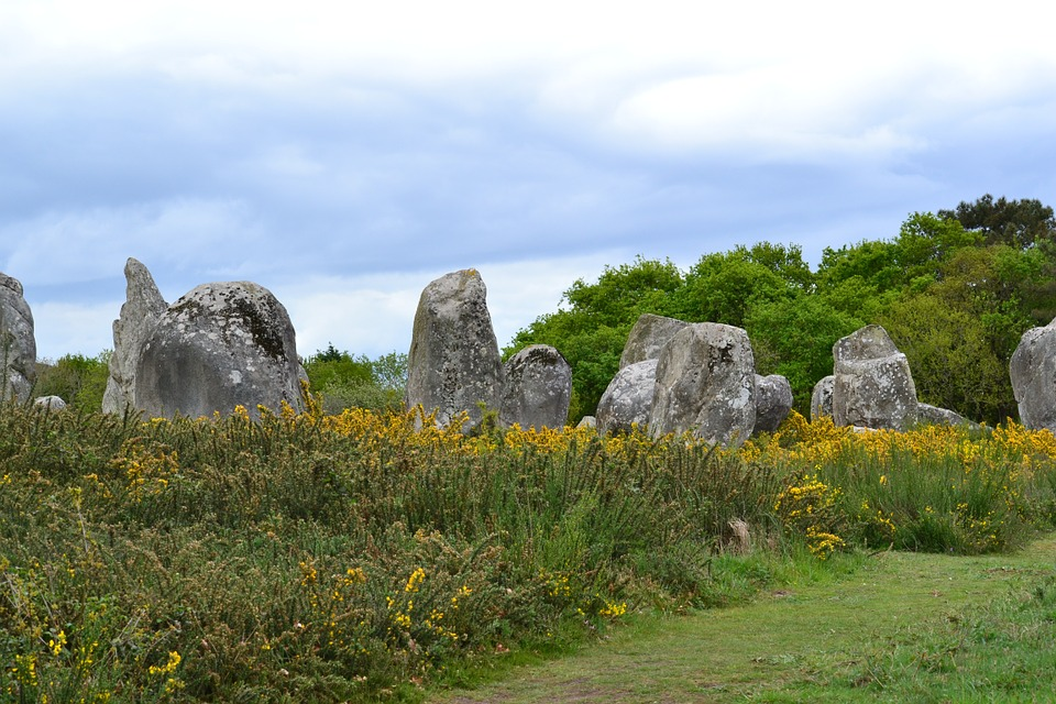 Menhir, Menhirs, Stones, Carnac, Brittany, France
