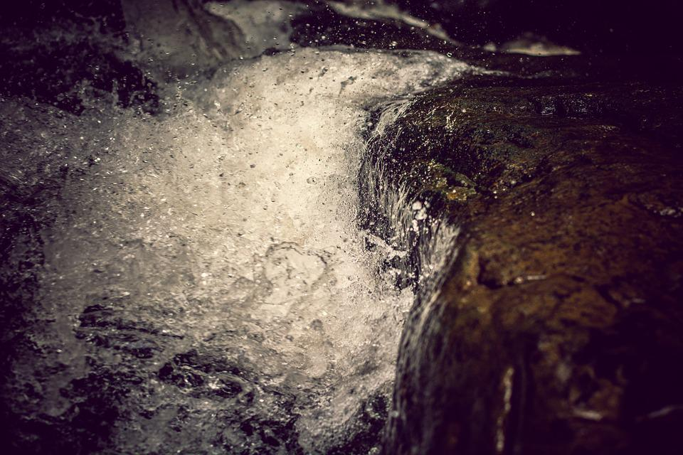 Spring, Flow, Stones, Mountains, Water, Waterfall, Rock