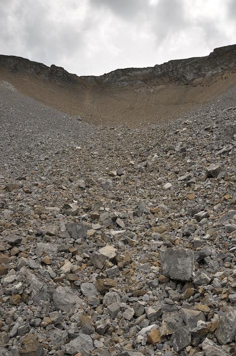 Gravel, Rubble, Macadam, Stones, Mountain, Nature
