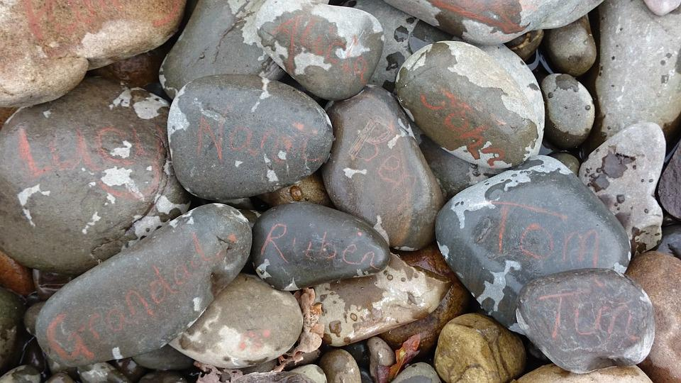 Free photo Stones Nature Written Name Pebbles - Max Pixel
