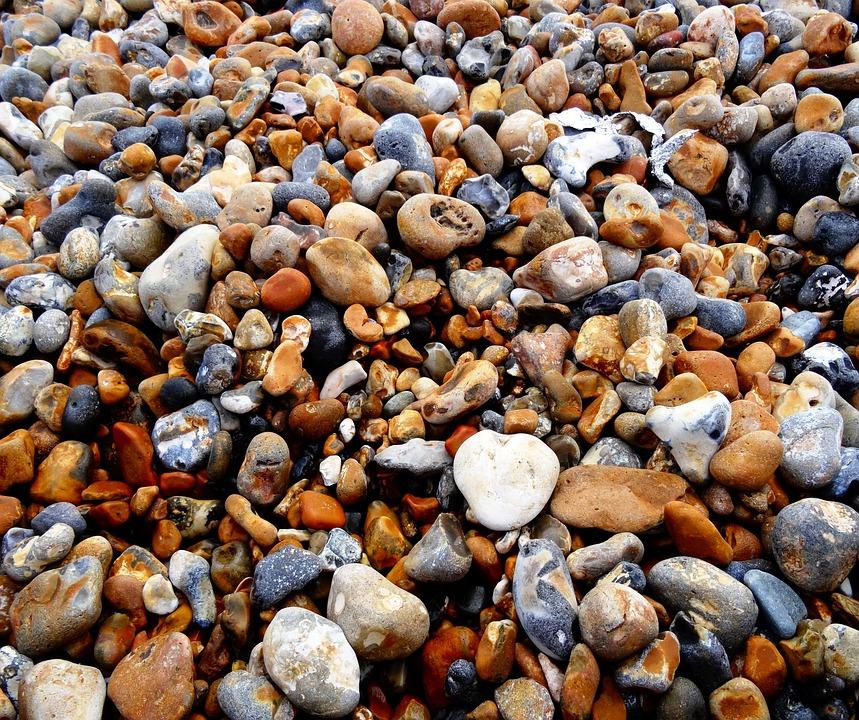 Bank, Stones, Beach, Pebbles
