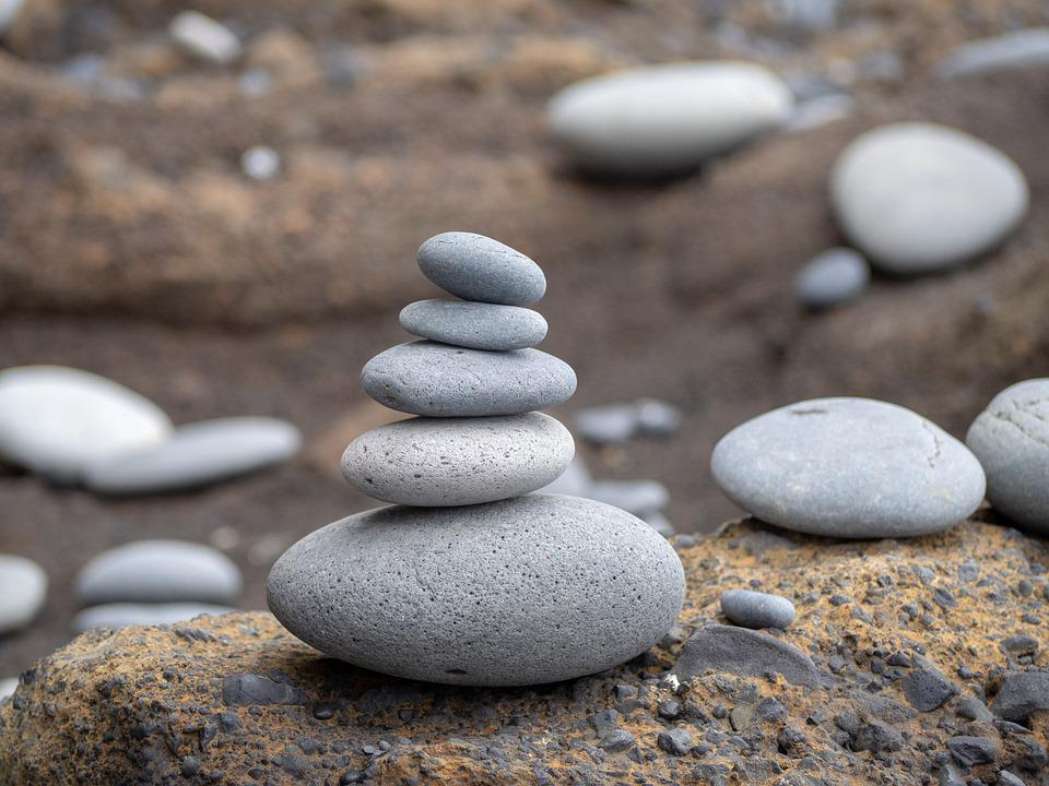 Pile Of Stones, Zen Pile, Stones, Stones Piled Up