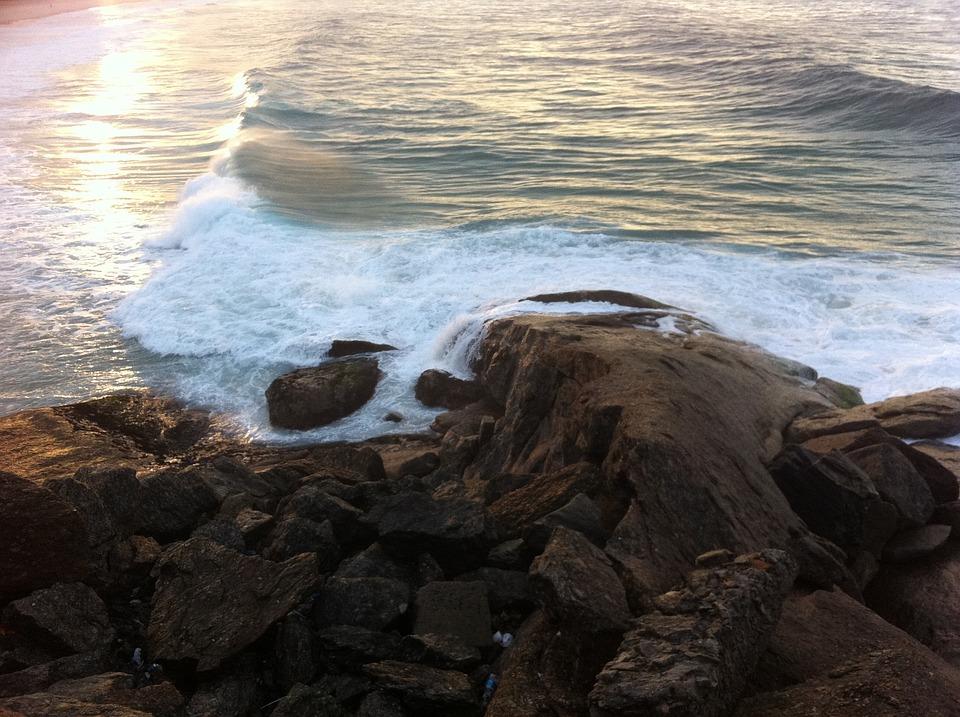 Rio De Janeiro, Beach, Stones