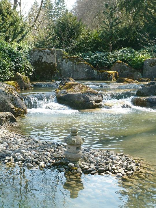 Water, Stones, Japan Garden, Pond, Garden, River