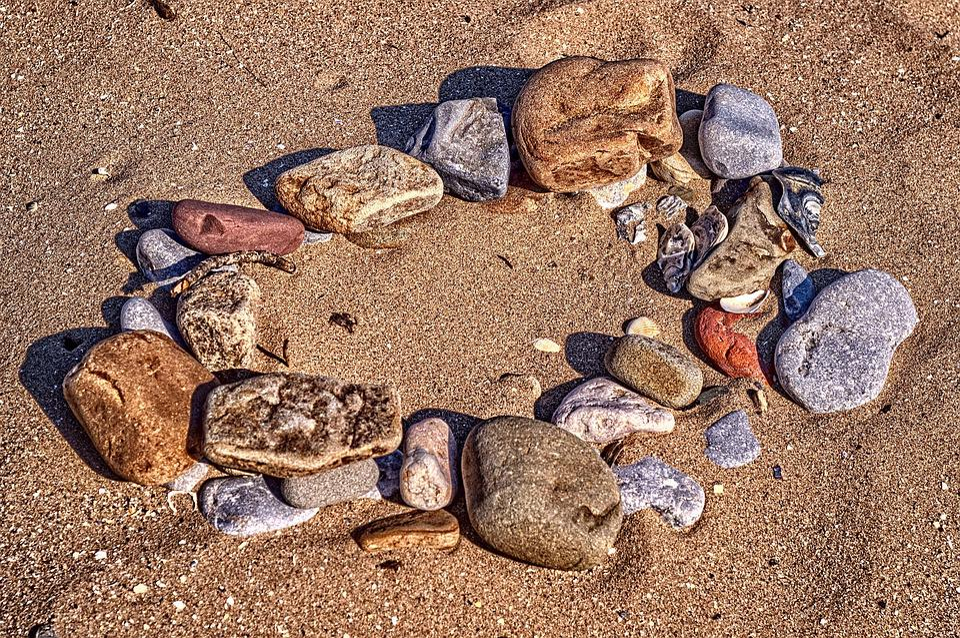 Beach, Rocks, Hdr, Rock, Coast, Stones, Sand, Circle