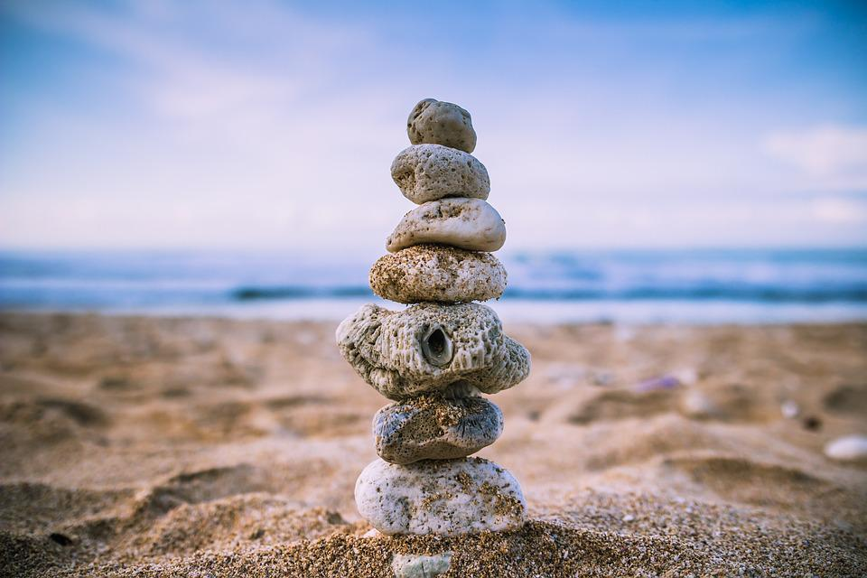 Beach, Balance, Wallpaper, Rock, Sand, Stacked, Stones