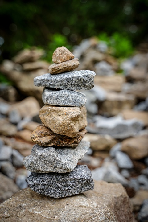 Stones, Pebbles, Stone Tower, Stacked, Pyramid, Artwork
