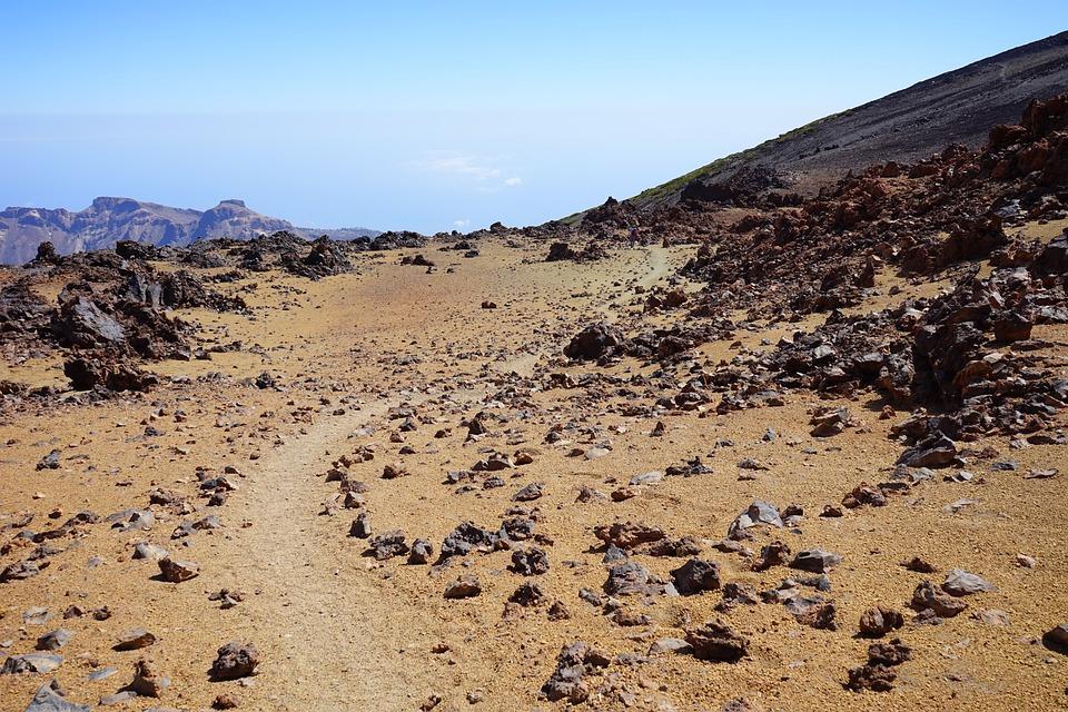 Stones, Rock, Rocks, Away, Path, Trace, Sand, Desert