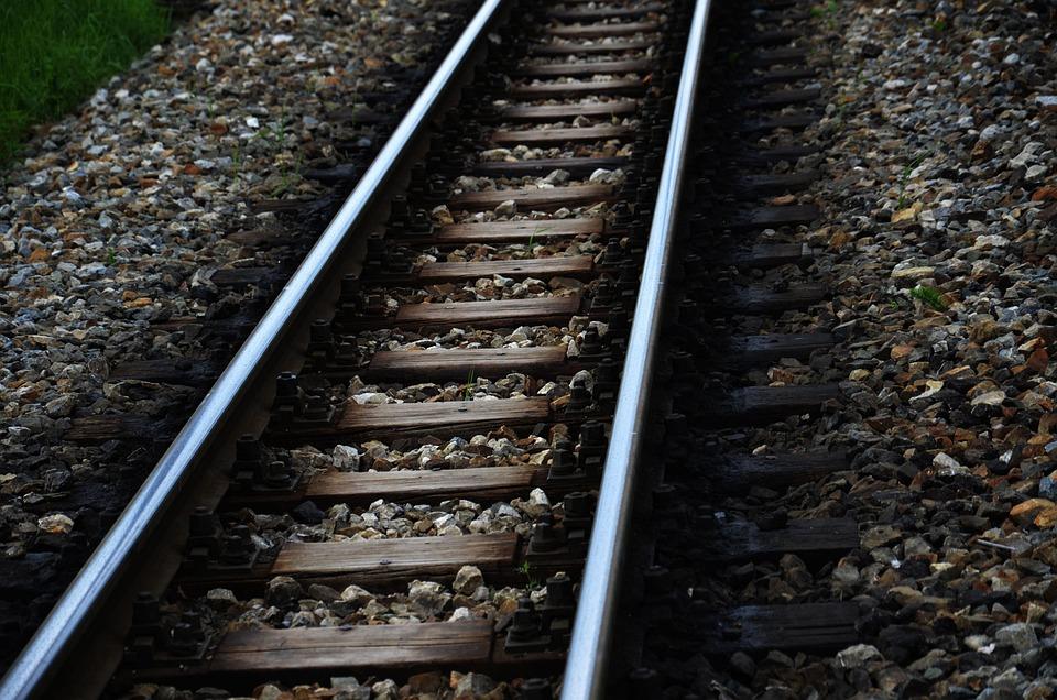 Train Tracks, Seemed, Stones, Railway, Train, Track