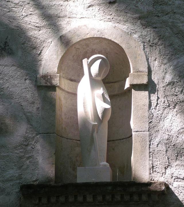 Virgin, Statue, Stones, Church, Alcove, Religion