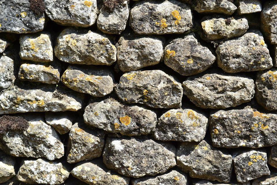 Wall, Stones, Stone Wall, Lichen, Ancient Wall, Texture