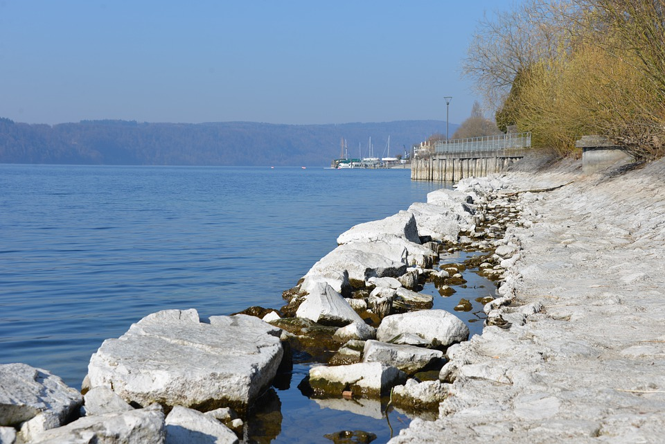 Lake Constance, Water, Beach, Stones