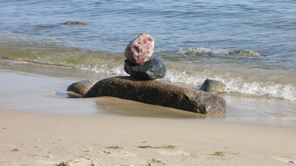 Beach, Water, Sea, Stones, Usedom, Beach Sea, Wave