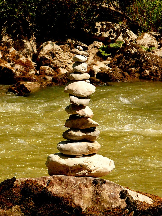 Stone Tower, Stones, Turret, Waymarks, Mark, River