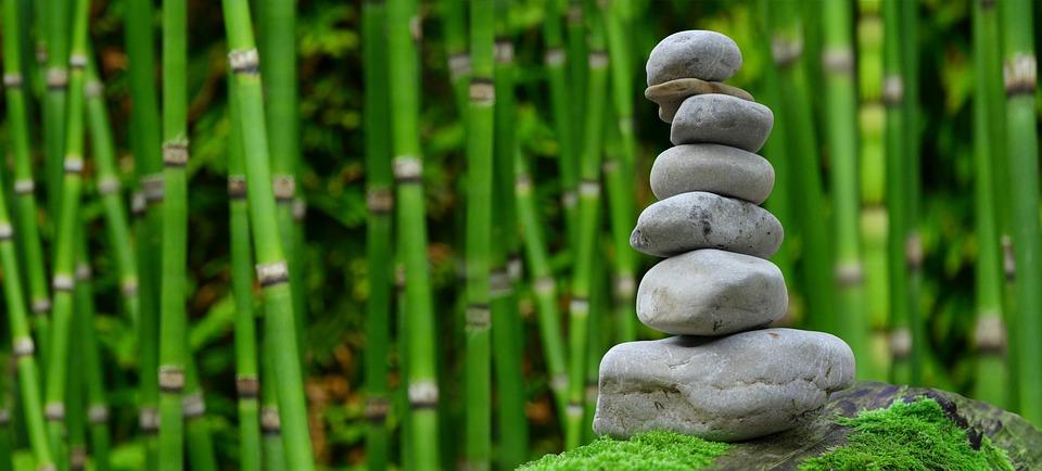 Zen, Garden, Meditation, Monk, Stones, Bamboo, Rest