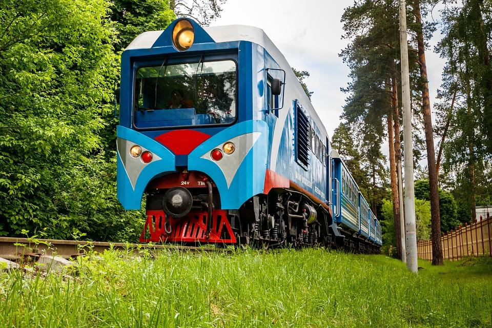 Locomotive, Diesel Locomotive, Cars, Train, Rails, Stop