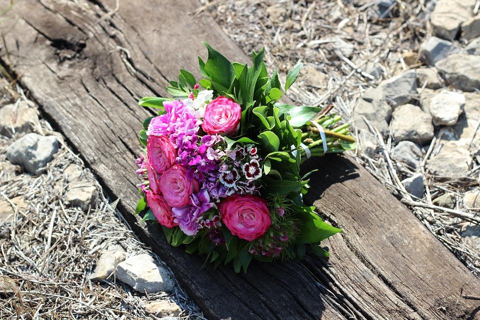 Stop Child Suicide, Rose Bouquet On Railway