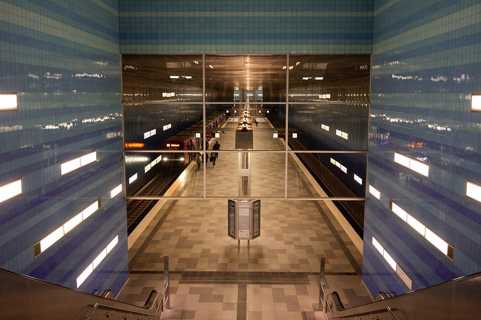 Hamburg, Metro, Architecture, Stop, Harbour City