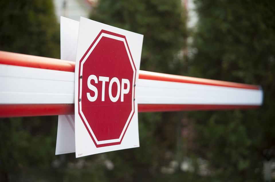 Stop, Road, Warning, Sign, Stand, Barrier, Gate