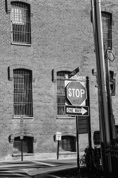 Building, Stop Sign, Sign, Stop, Warning, City, Street
