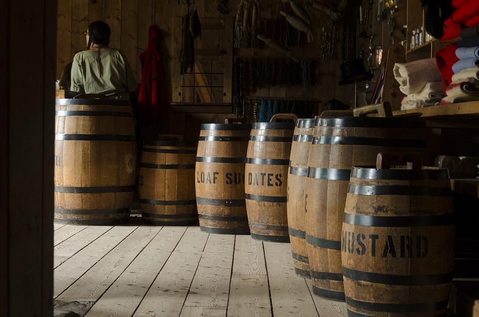 Barrels, Wood, Wooden, Storage