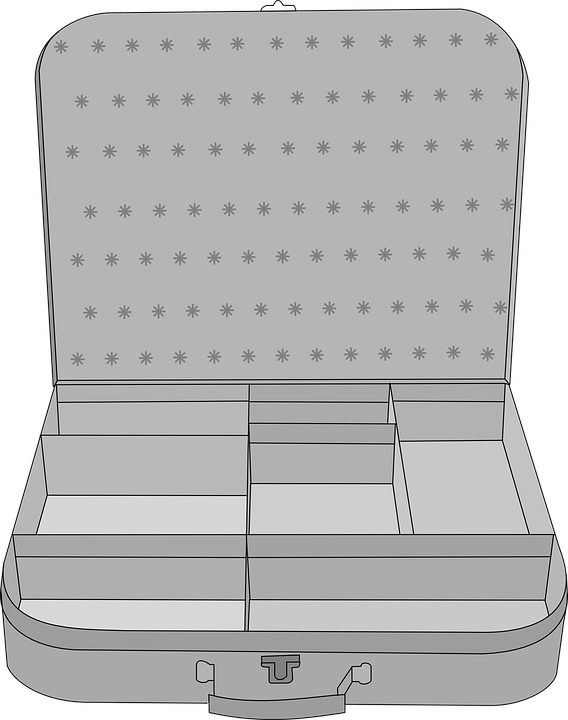 Suitcase, Compartment, Luggage, Storage, Handle