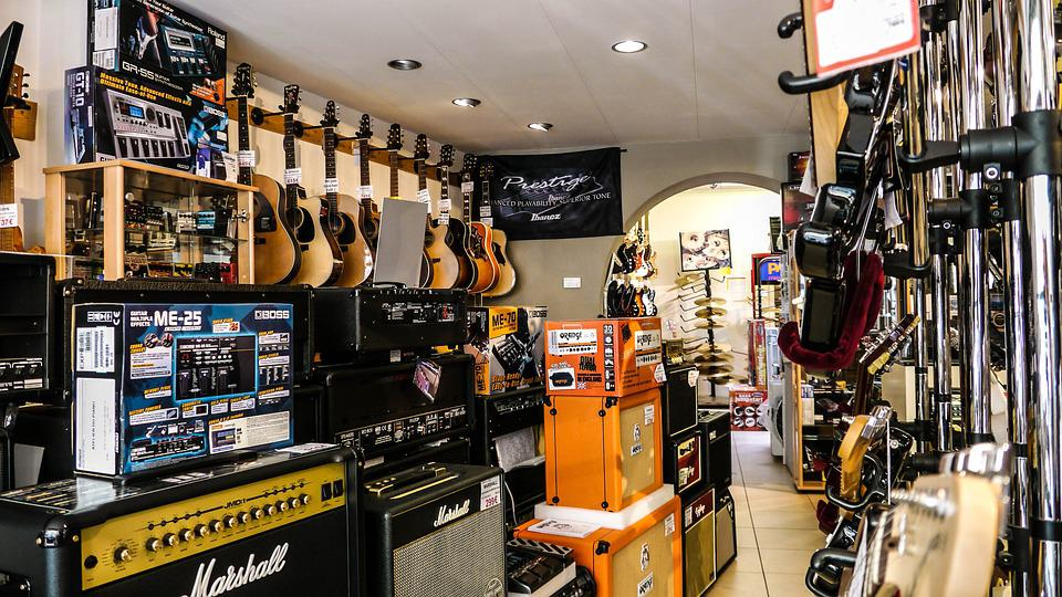 Store, Amp, Guitar, Instrument, Music, Rock