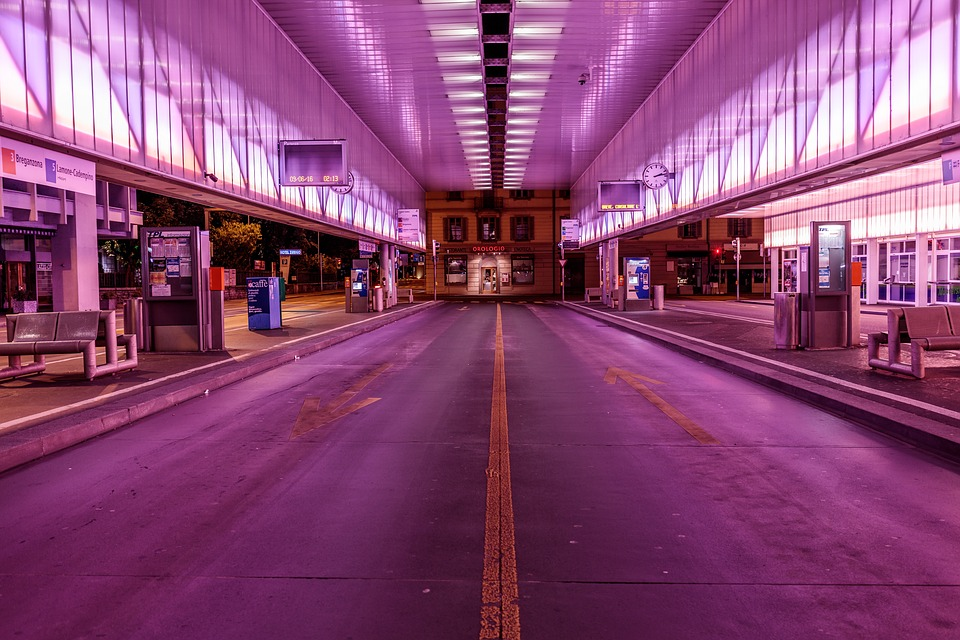 Purple, Store, Waiting, Area, Structure, Street, Shop