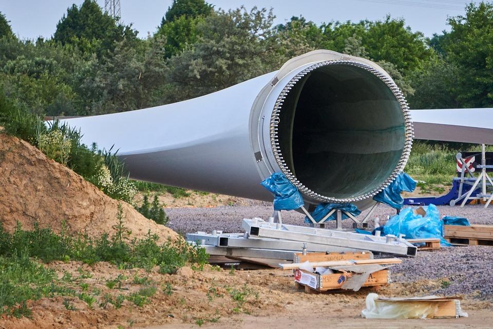 Rotor Blade, Site, Pinwheel, Wind Power, Stock, Stored