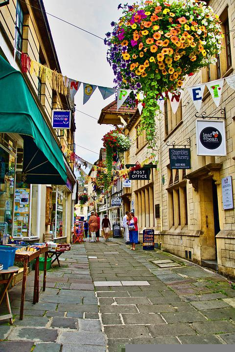 Village, Buildings, Street, Shops, Stores