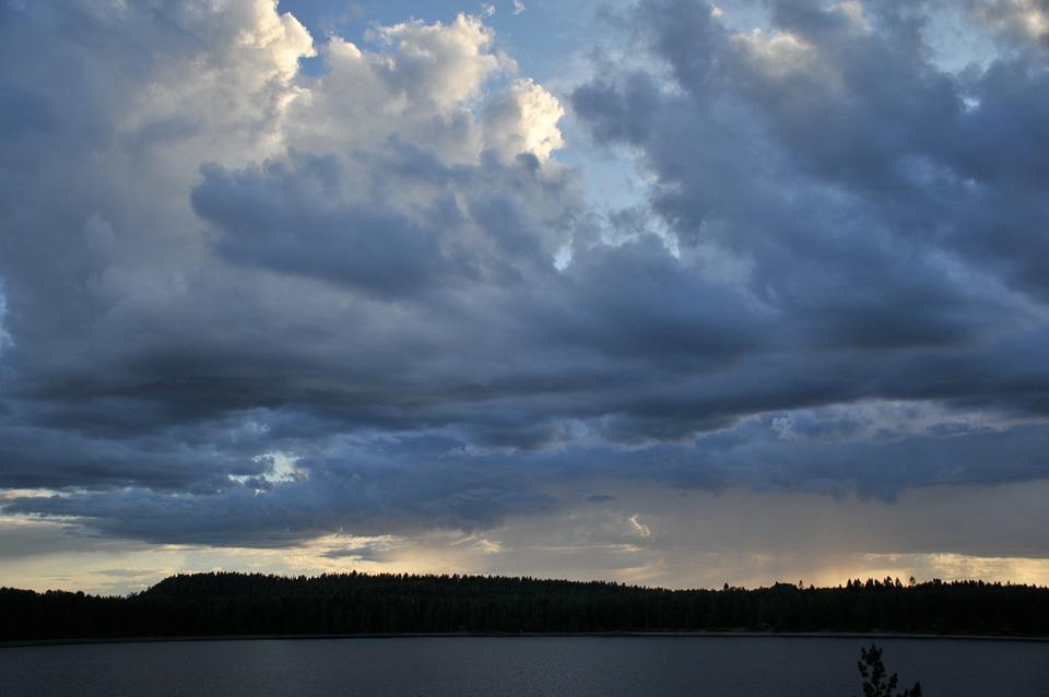 Clouds, Sky, Landscape, Storm