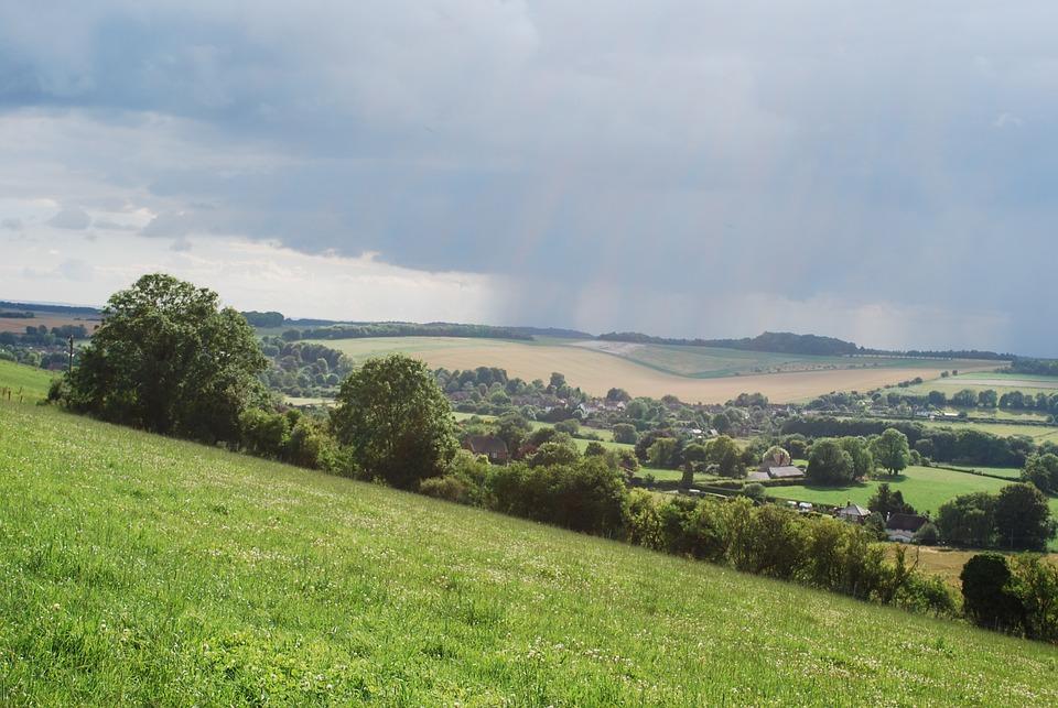 Wiltshire, Countryside, Clouds, Rain, Storm, Landscape