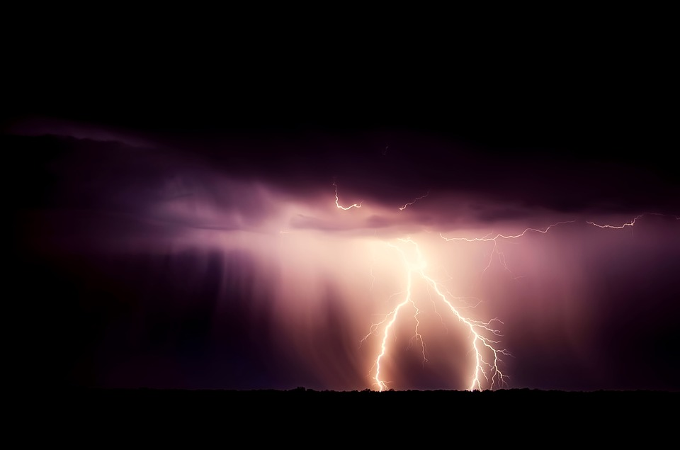 Storm, Weather, Lightning, Bolt, Electrical, Night